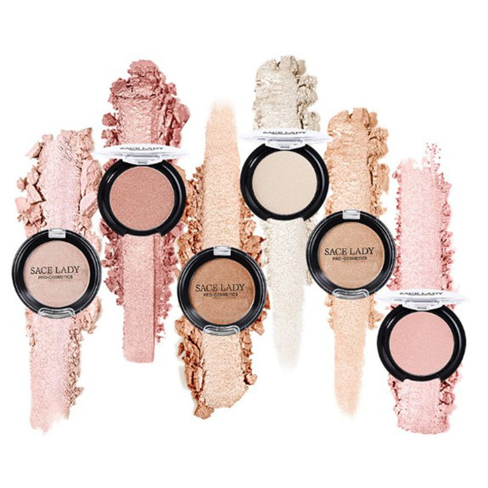 SACE LADY 6 Colors Face Blusher Powder Makeup Cheek Face Base Blusher Texture Baked Mineral Natural Blusher Palette