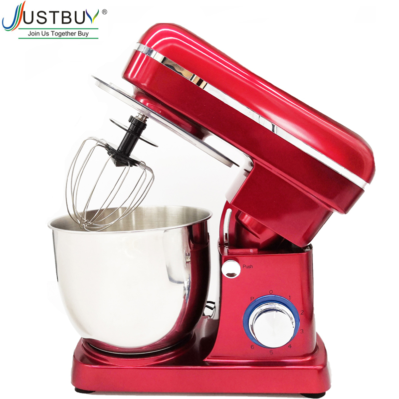 5L Stainless Steel Bowl 6-speed Kitchen Food Stand Mixer Cream Egg Whisk Blender Cake Dough Bread Mixer Maker Machine