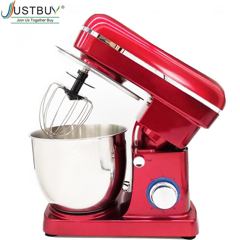 5L Stainless Steel Bowl 6-speed Kitchen Food Stand Mixer Cream Egg Whisk Blender Cake Dough Bread Mixer Maker Machine