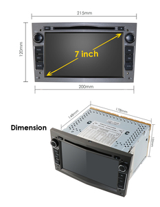 Image 5 - 4G Android 10 1024X600 7inch 2din Car GPS DVD player for Opel Astra h g Zafira B Vectra C D Antara Combo Radio audio dsp rds swc