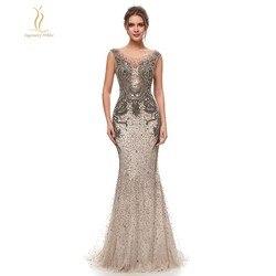 Mermaid Evening Dresses Elegant Long Embroidery Beaded Sequins Dubai Robe De Soriee Sleeveless Floor Length Prom Celebrity Gowns