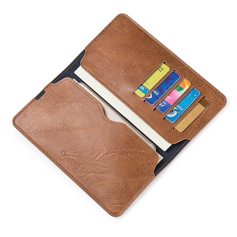 Купить с кэшбэком Wax oil skin wallet men long Vintage portafoglio uomo thin simple men's purse carteras hombre billetera wallet nature leather