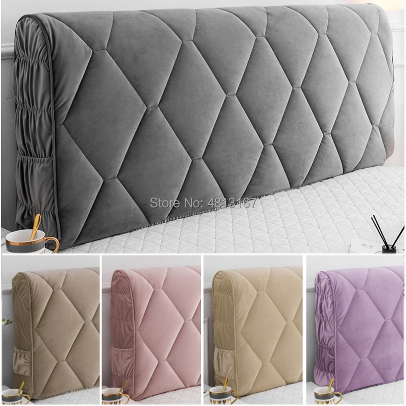 Luxury Thicken Headboard Cover Soft Bed Head Protection Cover All-inclusive Bed Head Back Headboard Decoration