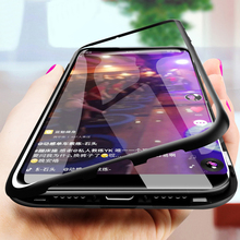 Magnetic Adsorption Metal Case For iPhone 7 7 Plus Case For iPhone XR XS X XS Max 7 8 6 6s Plus Cover Coque Fundas magnetic adsorption case for iphone x xs max 10 8 7 6 s plus coque tempered glass magnet back cover for iphone xr xs max fundas