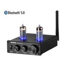 AIYIMA 6K4-preamplificador de amplificador de tubo de vacío, amplificador de preamplificador Bluetooth 5,0 con ajuste de tono de bajos triples para cine en casa