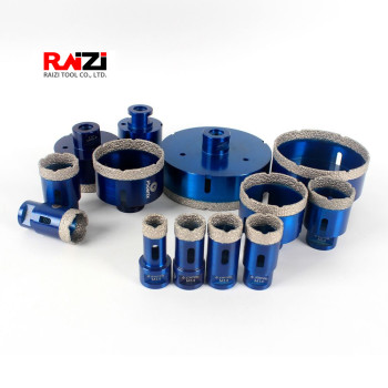Raizi 1 Pc M14 Porcelain Ceramic Tile drill bit 6-125 mm for granite marble Diamond Coated drilling core bit Hole saw Cutter dt diatool 2pcs m14 dia 12mm dry vacuum brazed diamond drill core bits ceramic tile hole saw granite marble stone drilling bits