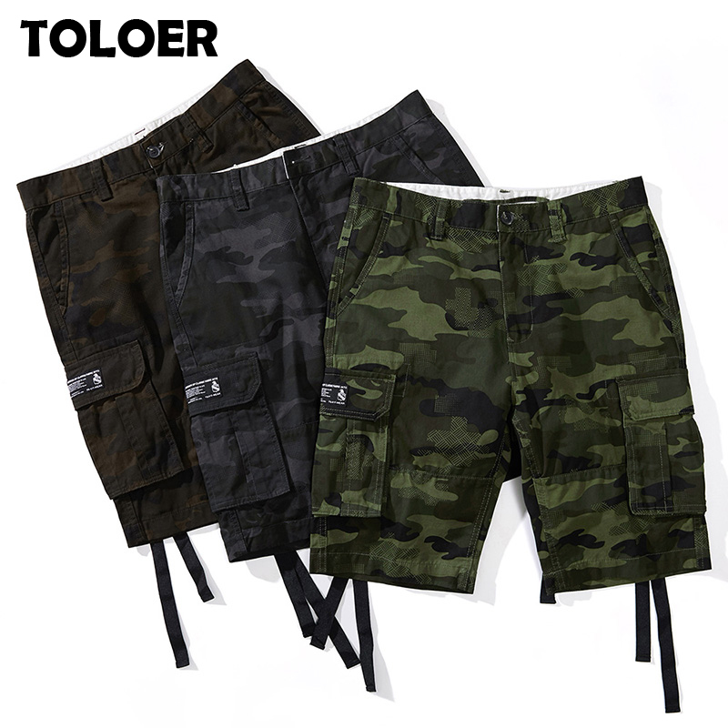 Military Camouflage Shorts Men Multi Pockets Army Cargo Shorts Male Summer Casual Loose Cotton Camo Tactical Shorts Sweatpants