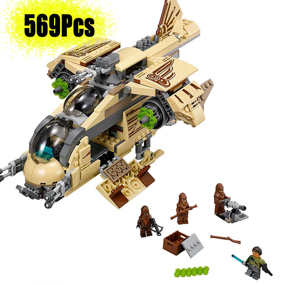 2019 NEW 10377 Legoinglys Star Wars Wookie Gunship Compatible With Legoinglys 75084 Block Set Building Brick Starwars Toy Kids