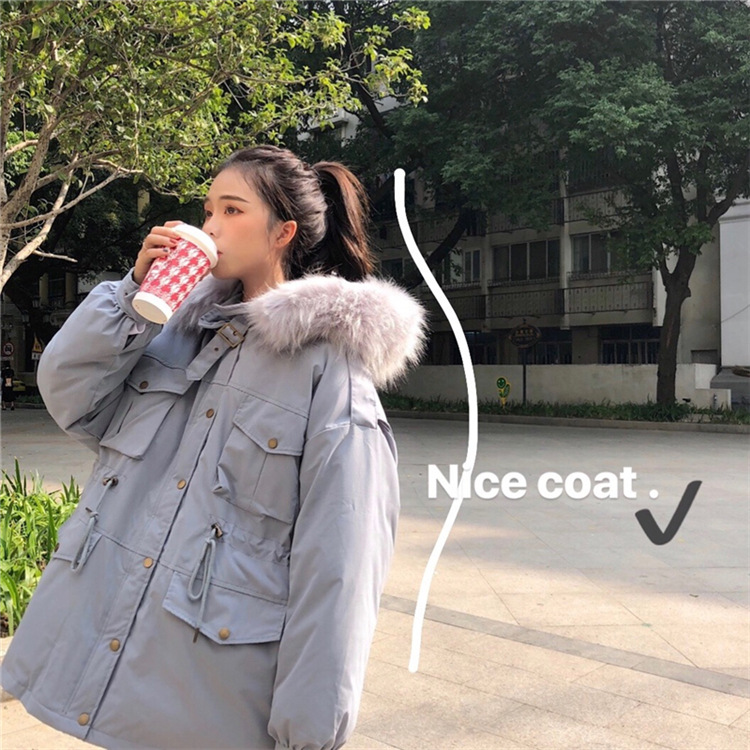 Photo Shoot Loose-Fit BF Dongdaemun Hand Cotton Oversize Cotton Coat INS Cotton-padded Clothes Workwear Coat