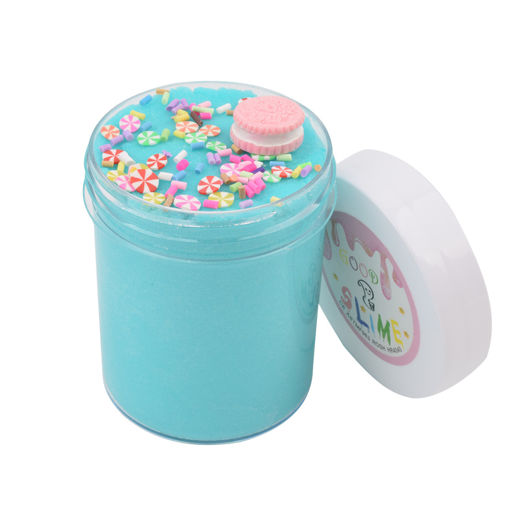 Mixing Color Ice Cream Cloud Clay With Accessories Slime Kids Clay Toys Girly Heart Pinch Fun Decompressed Cloud Mud #B