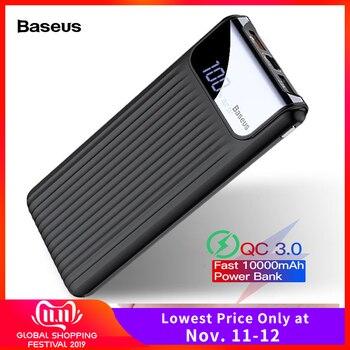 Baseus Quick Charge 3,0 10000 mAh Power Bank LCD 10000 mAh QC3.0 Schnelle Power Tragbare Externe Batterie Ladegerät Für Xiao mi mi 9