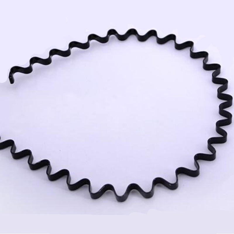 Fashion Wave Shape Black Hair Hoop Clip For Women And Handsome Men Hair Beauty Styling Headwear Modeling Tool