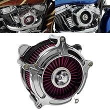 Мотоциклетный турбинный воздухоочиститель RSD, хромированный фильтр для Harley Sportster XL Dyna Street Bob Softail 00-21Touring Street Glide