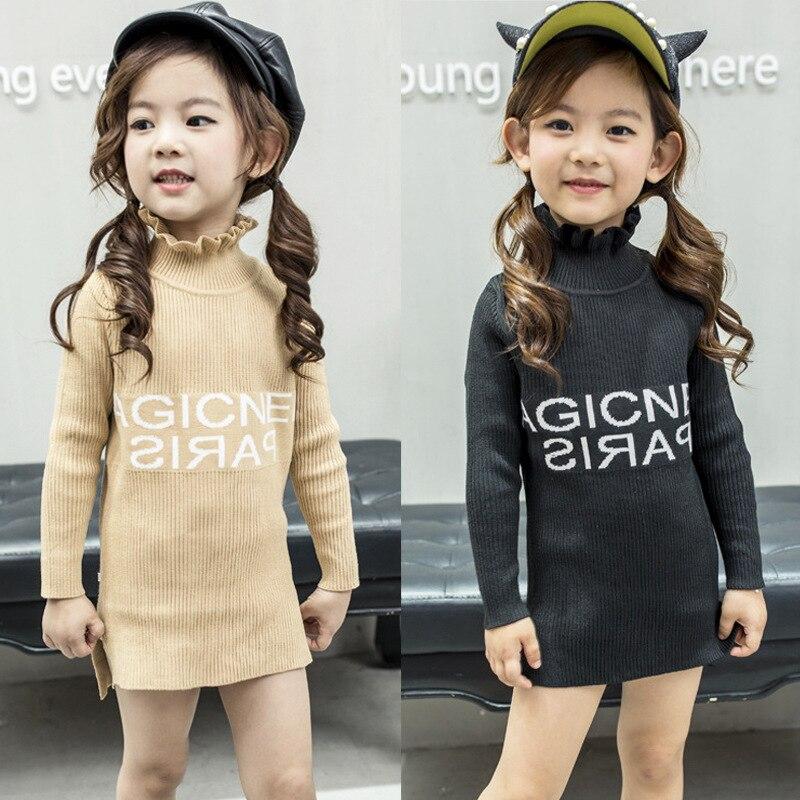C614 CHILDREN'S Garment Girls GIRL'S Sweater Mid-length Base Shirt 2019 Autumn Clothing New