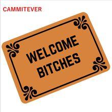 CAMMITEVER Villain Welcome B * tches 카펫 복도 유머 고무 수입 도어 패드 Funny Carpet Pad 360g Mats Oh No Not You Again