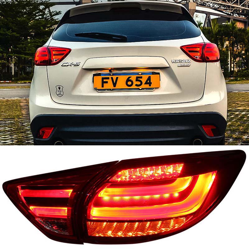 Tail lights LED Red Lens Rear <font><b>Taillight</b></font> Assembly Lamp Fit For <font><b>Mazda</b></font> CX-5 image