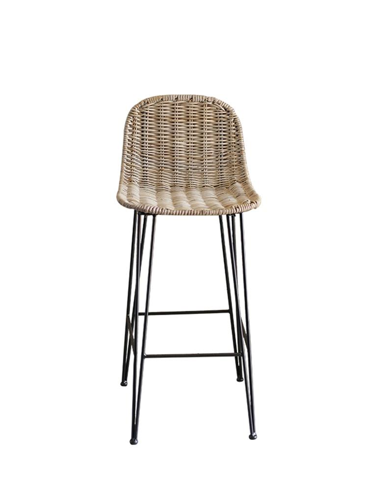 Imported Rattan Chair Bar Table Chair Rattan Creative Homestay Home Bar Chair Hand-woven High Stool