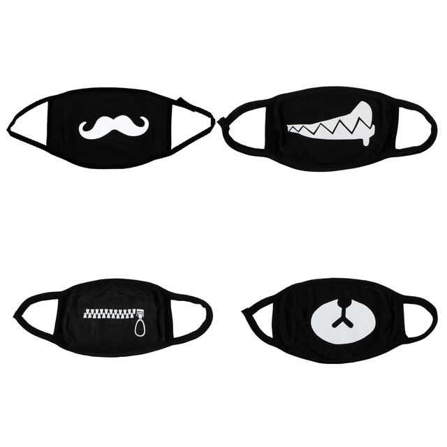 4 pcs Can Choose Colors Anime Cartoon Kpop Mouth Mask for Women Dust Mask Cotton Dustproof Men Black Filtration Muffle Face Mask