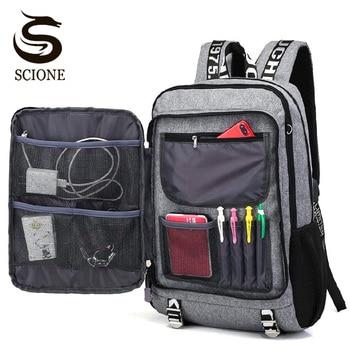 USB Charging Teenagers School Backpack Boys Student Schoolbag Men Large Travel Backpacks Laptop Notebook Rucksakc Bookbag XA149M - discount item  50% OFF School Bags
