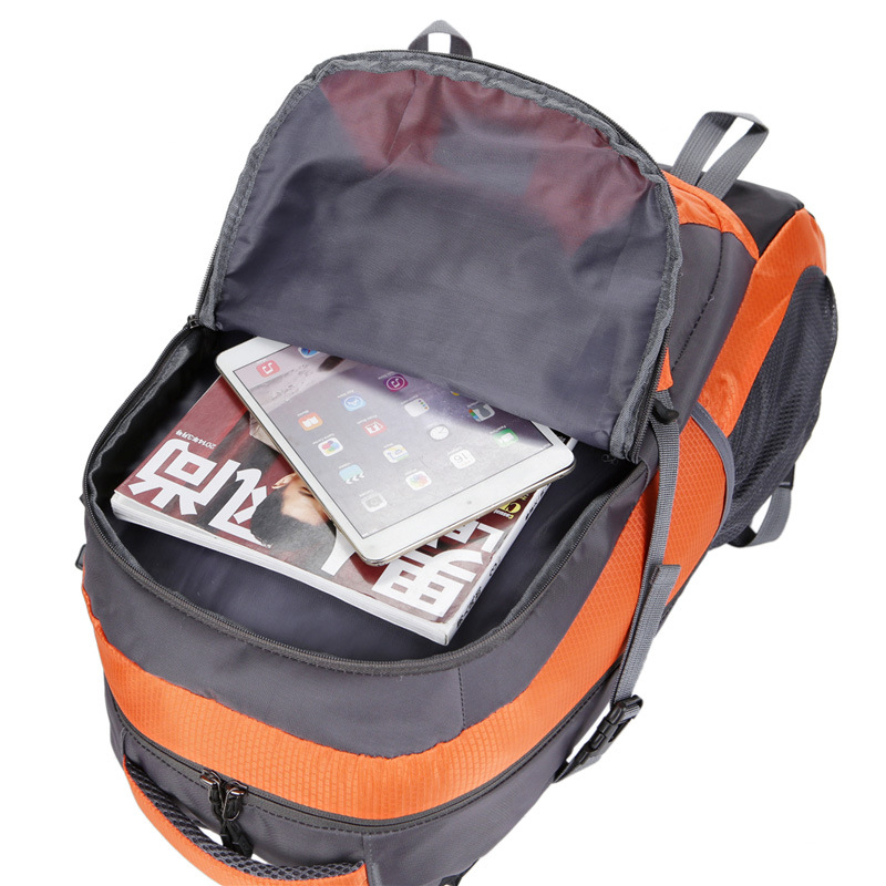 New Style Contrast Color Hiking Backpack Sports Bag Outdoor Mountaineering Bag Travel Bag Outdoor Ride Luggage