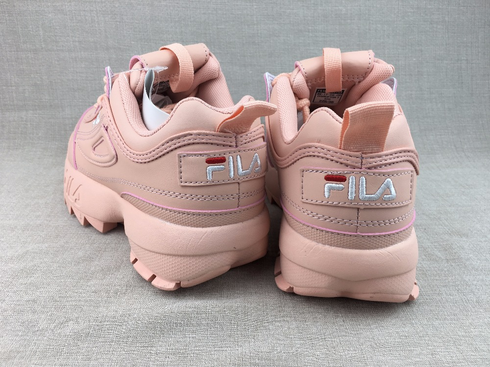 FILA Disruptor II Women Pink Running Shoes Sports Shoes Non Slip Damping Summer Outdoor