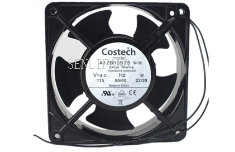 Free Shipping A12B12STS W00 AC 115V 22/20W 12CM 50/60HZ 2 Wires Cooling Fan