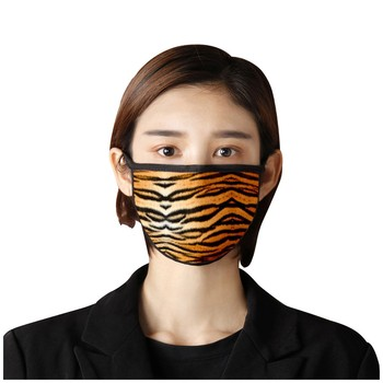 Unisex leopard spots wild cat universal face masks washable reusable cloth masks anti pollution face shield windproof mouth mask