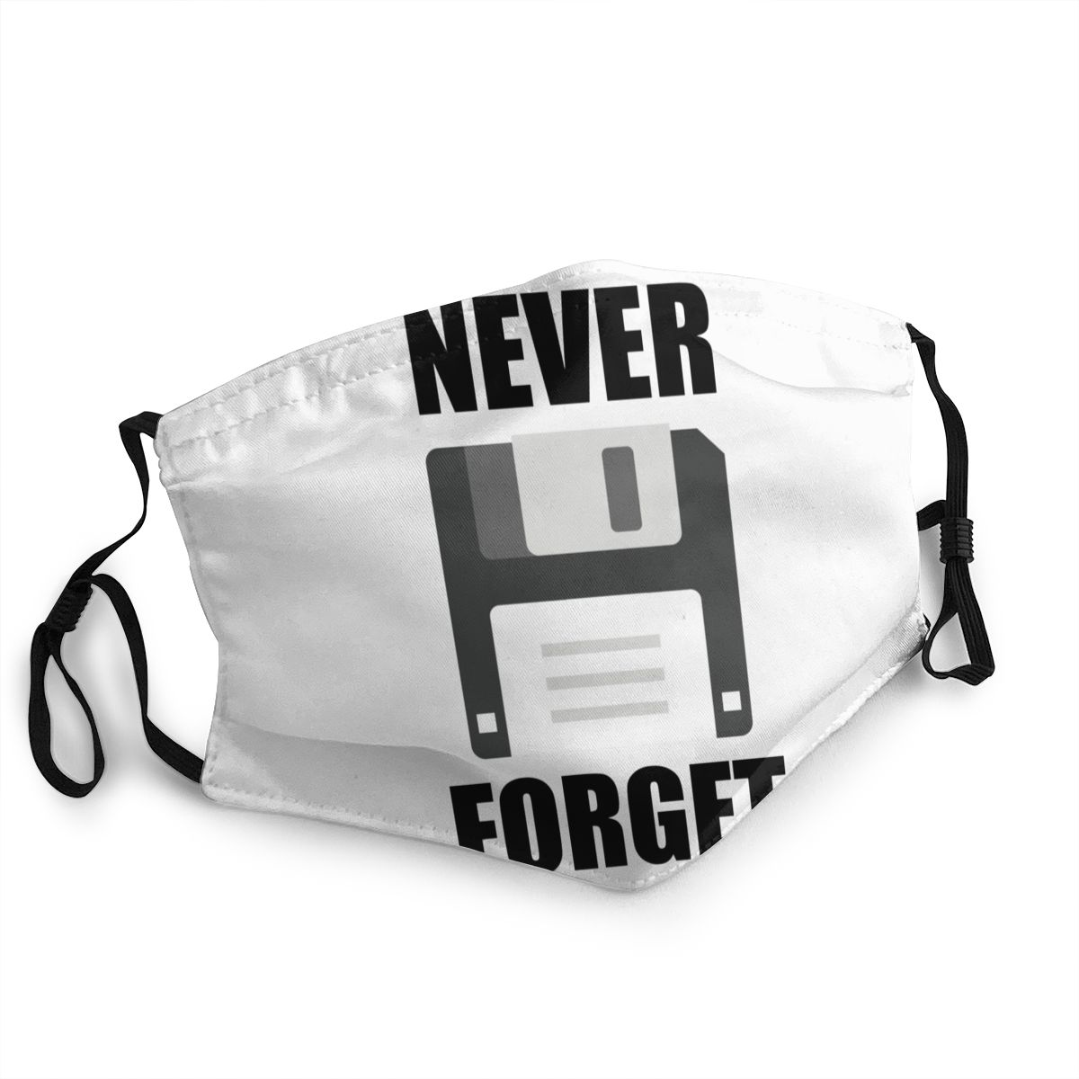 Never Forget Men Women Reusable Mouth Face Mask Computer Anti Bacterial Dust Protection Cover Respirator