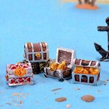 1 Uds caja del Tesoro de decoración del acuario Mini acuario decoración para paisajismo Mar Mediterráneo decoración inferior accesorios acuario