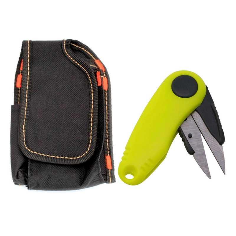 1 個ステンレス鋼はさみラインカッター削除フックとタックルツール & 1 個ミニ吸うポケットウエストバッグ電子 Ci