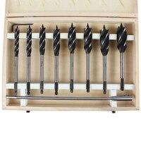 10 teile/satz Schneller Schnitt Auger 10 25Mm Twist Drill Bit Set Holz Carpenter Joiner Werkzeug Bohrer für holz Geschnitten Anzug für Holzbearbeitung-in Bohrkronen aus Werkzeug bei