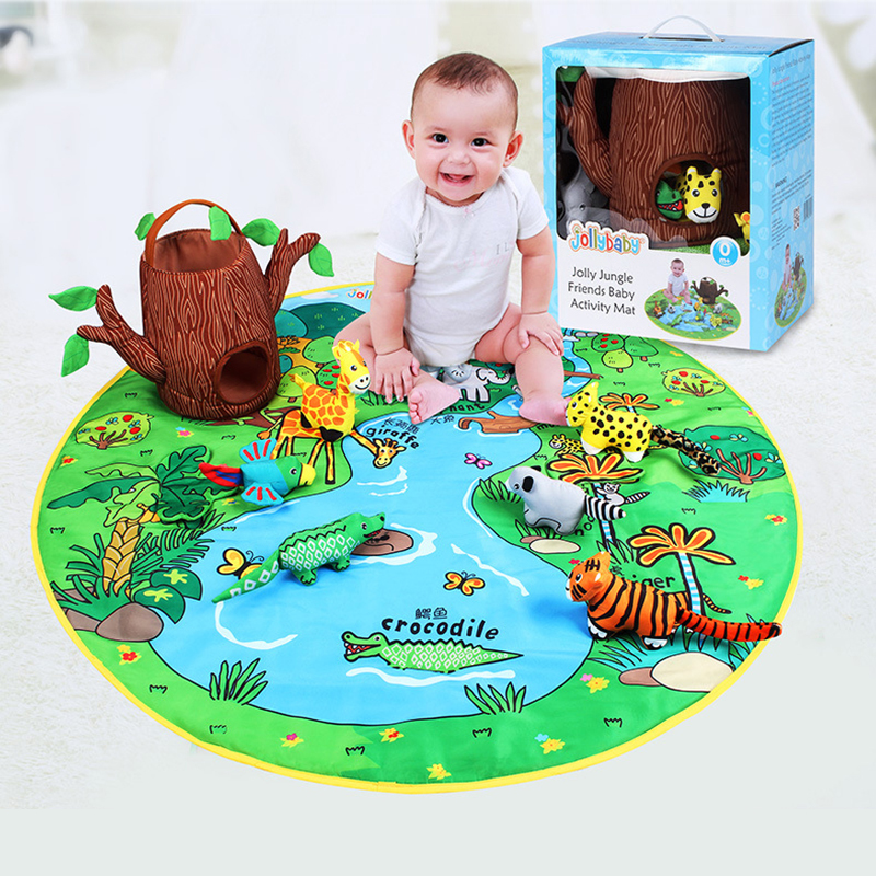 Kid Happy Game Blanket Baby Early Education Three-Dimensional Animal Doll Cloth Art Book Cognitive Parent-Child Interactive Toys