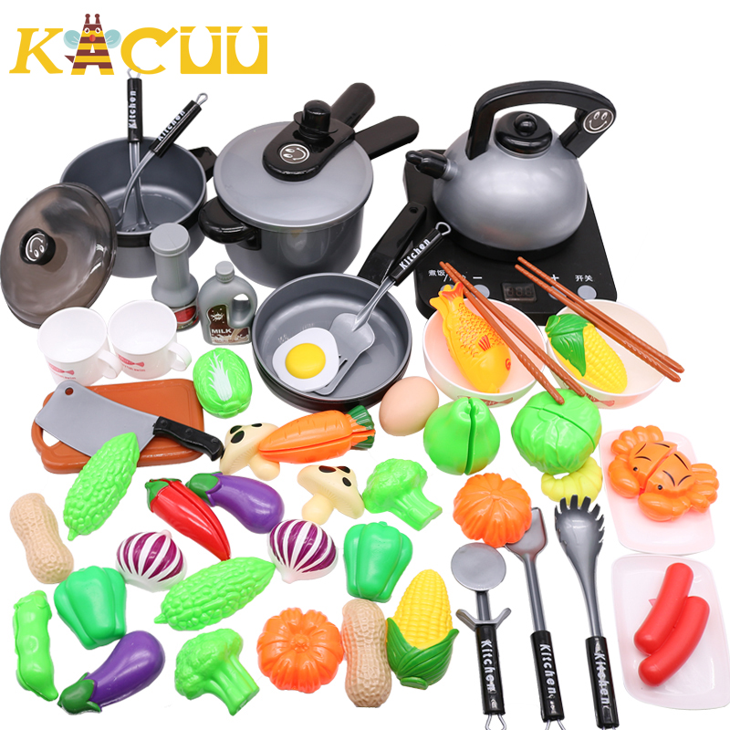 10-44Pieces Children Mini Kitchen Toy Cookware Pot Pan Kids Pretend Cook Play Toy Simulation Kitchen Utensils Toys Children Gift