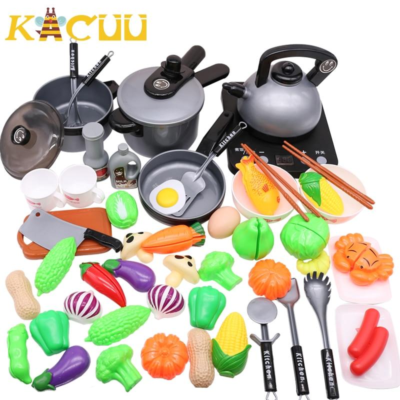 10-44Pieces Children Mini Kitchen Toy Cookware Pot Pan Kids Pretend Cook Play Toy Simulation Kitchen Utensils Toys Children Gift