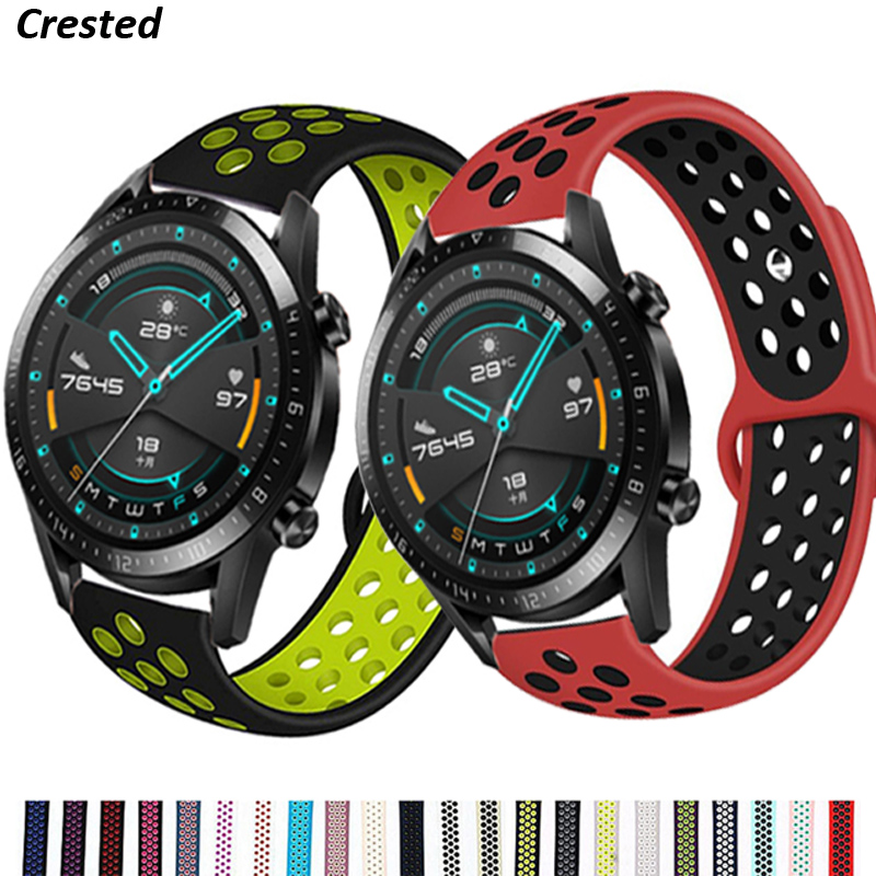 20mm/22mm watch band for Huawei GT/2/2E/Pro Samsung gear s3 Frontier/S2 bracelet Galaxy watch 46mm/42mm/Active 2/3 45mm Strap