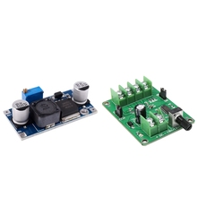 цена на 1Pcs Xl6009 3-32V To 5-35V Dc-Dc Adapter Booster Circuit Board Module & 1Pcs 5V-12V Dc Brushless Motor Driver Board Controller f