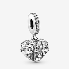 2019 Autumn New 925 Sterling Silver Beads Home Sweet Heart Charms fit Original Pandora Bracelets DIY Jewelry For Women 2019 autumn new 925 sterling silver beads auntie love heart charms fit original pandora bracelets diy jewelry for women