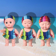 20CM Soft Full Body Silicone Reborn Dolls Swimming Waterproof Baby Doll 3 Expressions Swim Suits Toys For Children Bebe Reborn warkings reborn