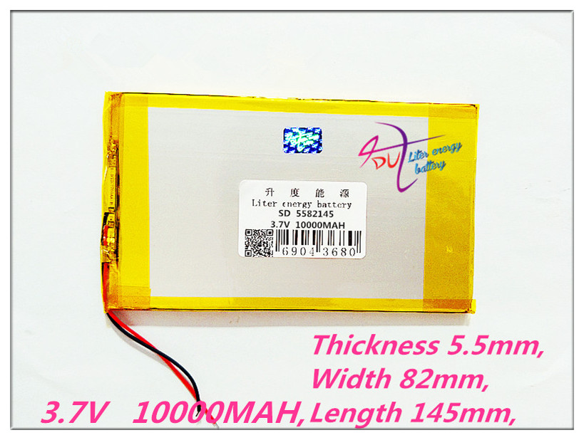 Free shipping 5582145 <font><b>3.7V</b></font> <font><b>10000MAH</b></font> tablet <font><b>battery</b></font> brand tablet gm lithium polymer <font><b>battery</b></font> 5582145 image