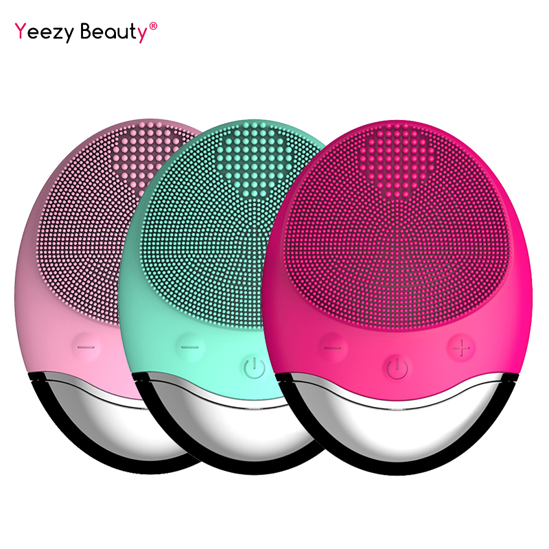 Face Cleansing Brush Electric Facial Cleanser Facial Cleansing Brush Facial Cleansing Waterproof Anion Imported Wireless Mini2-in Powered Facial Cleansing Devices from Home Appliances