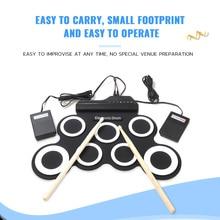 IWord G3002 портативный ручной рулон силиконовый электронный барабан Ударные Инструменты Поддержка внешних наушников для любителей музыки