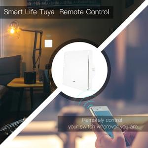 Image 2 - واي فاي الذكية زر التبديل 2 Way RF433 جدار لوحة الارسال عدة الحياة الذكية تويا App التحكم يعمل مع اليكسا جوجل المنزل