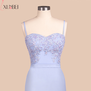 Image 4 - Bridesmaid Dresses Backless Mermaid Lilac Lace Straps Beaded Appliques Wedding Party Gown Robe demoiselle dhonneur