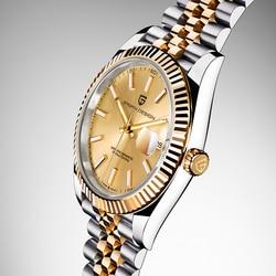 PAGANI DESIGN męskie zegarki top marka luksusowy zegarek na rękę automatyczny zegarek mechaniczny mężczyźni biznes prosty zegarek ze stali nierdzewnej mężczyzn w Zegarki mechaniczne od Zegarki na