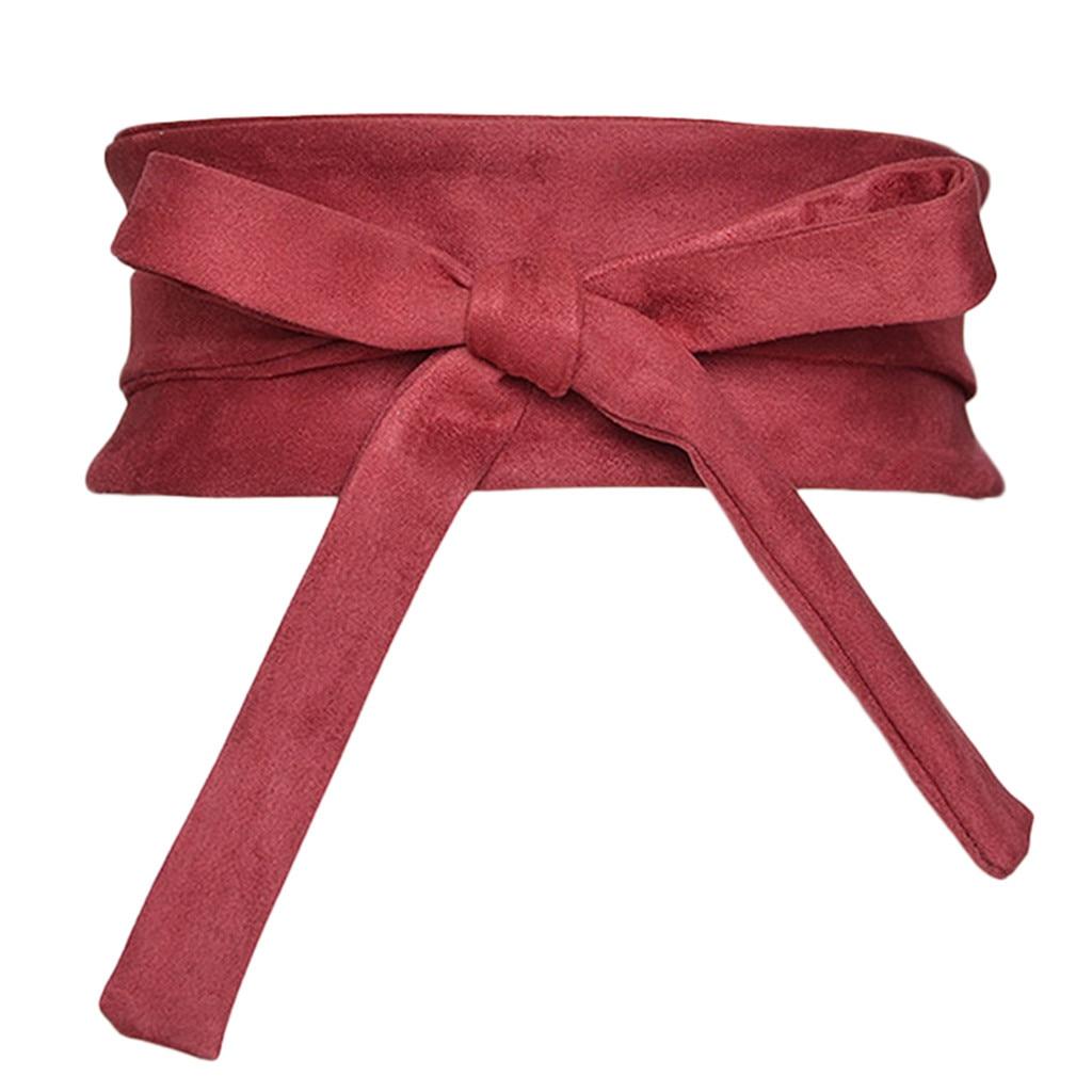 Cotton Wide Belt Women's Bow Tie Waistband Women's Leather Bag Wide-brimmed Self-binding Belt Straps Belt Elegant Belt 2020