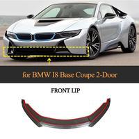 For BMW i8 Car Front Bumper Lip Spoiler For BMW i8 2014 2018 Carbon Fiber Front Bumper Guard Splitters Apron Lip