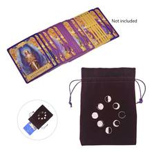 Sac de rangement Tarot velours Phase de lune sac de Divination carte Oracle sac de jeu de société 24BD