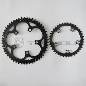 "Image 2 - TRUYOU yol bisiklet zinciri tekerlek BCD 110 53T 39T çift disk aynakol katlanır bisiklet aynakol alüminyum çift hızlı CNC 3/32"""