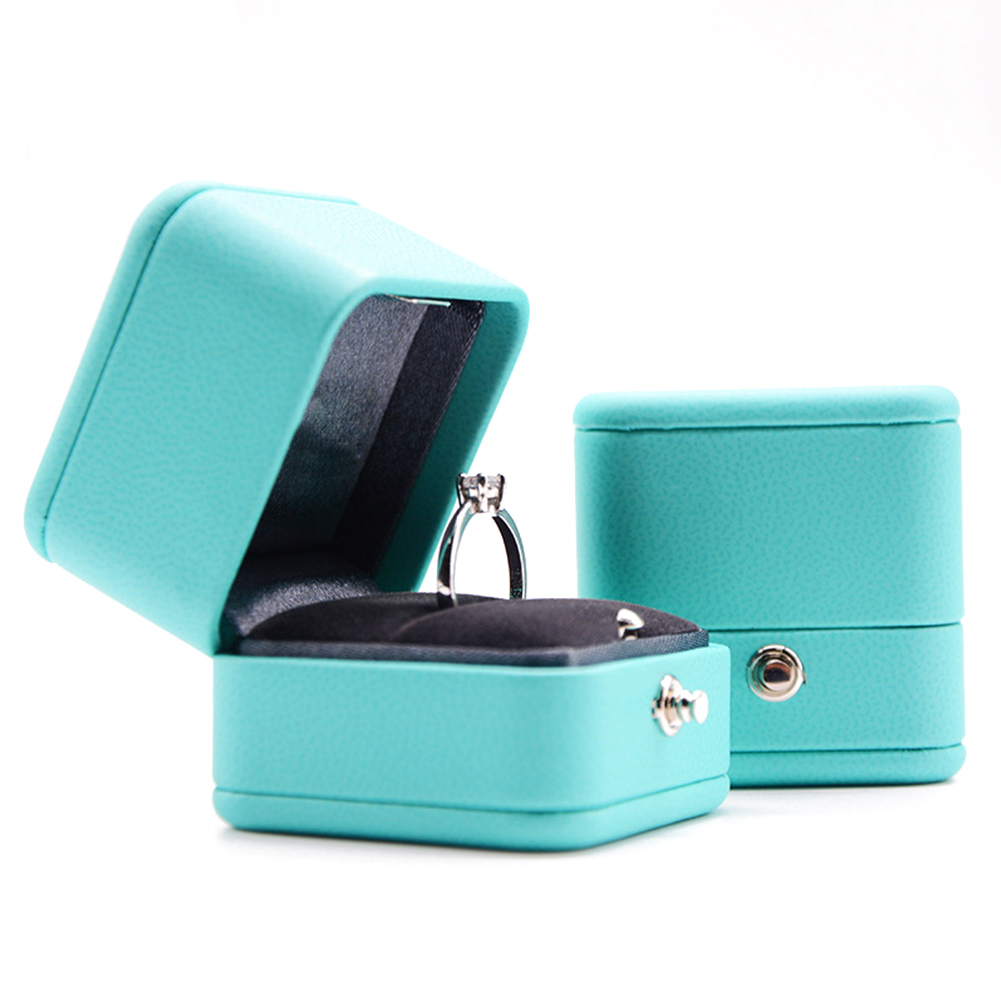 European Style Blue Ring Box Present Gift  Romantic Case Wedding Propose  Ring Organizer Storage Gift Box Package For Engagement