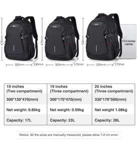 "Image 5 - Unisex Women Men Laptop Backpack Business Travel Bag Boys Girls School Bag Large Capacity USB Port Waterproof Black 19"" H6851"